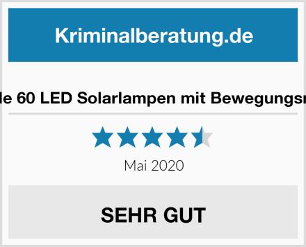 iPosible 60 LED Solarlampen mit Bewegungsmelder Test