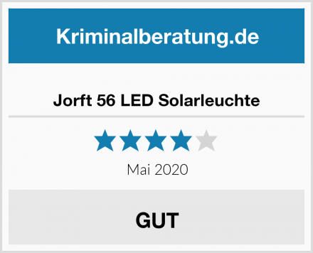 Jorft 56 LED Solarleuchte Test