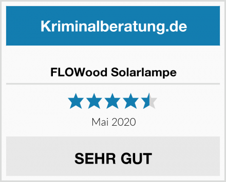 FLOWood Solarlampe Test