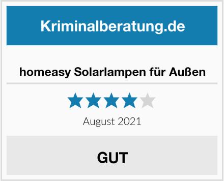 homeasy Solarlampen für Außen Test
