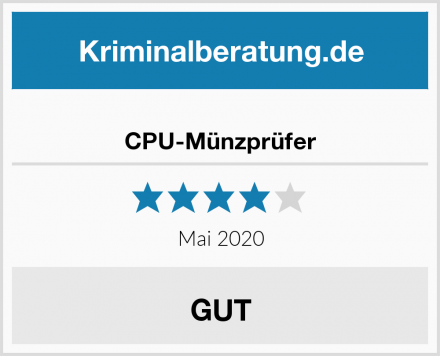 CPU-Münzprüfer Test
