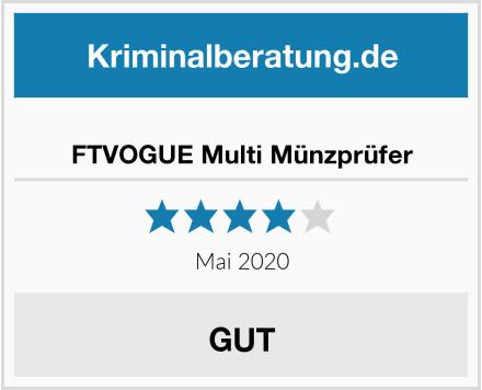 FTVOGUE Multi Münzprüfer Test