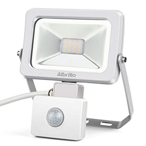 Albrillo 10W LED Fluter mit Bewegungsmelder