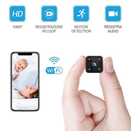 FREDI WLAN HD 1080P Mini Überwachungskamera Nanny
