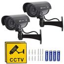 TIMESETL 2 Stück Attrappe Kamera CCTV